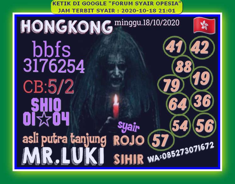 Kode syair Hongkong Minggu 18 Oktober 2020 39