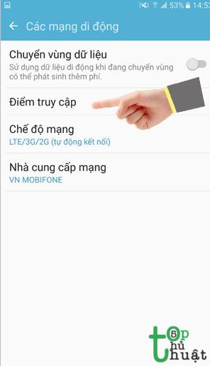 cách cài đặt GPRS cho điện thoại Android