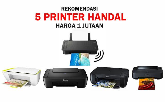 5 Printer Handal Harga 1 Jutaan