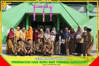 Upacara Peringatan Hari Guru SMK Yasmida Ambarawa Tahun 2019