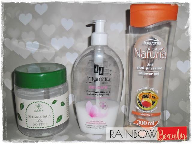 KORANA, Relaksująca sól do stóp  JOANNA, Naturia Body, Odświeżający żel pod prysznic Mango i papaja AA, Intymna ochrona i pielęgnacja, Delicate, Kremowa emulsja do higieny intymnej