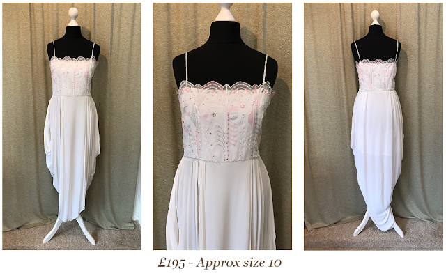 art deco gatsby style tulip skirt vintage wedding dress available from vintage lane bridal boutique bolton manchester
