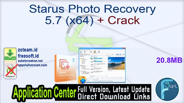 Starus Photo Recovery 5.7 (x64) + Crack_ ZcTeam.id