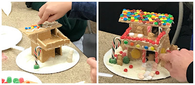 Gingerbread houses with kids, Frank Lloyd Wright gingerbread house