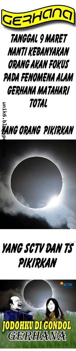 Gambar Meme Gerhana Matahari 9 Maret Plus Kata Kata Lucu