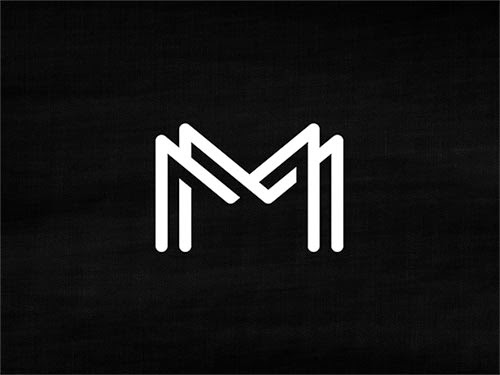 Overlapping technique Logo MM