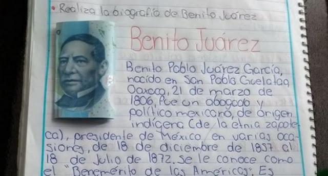 Este es el niño que entregó la tarea con billete de 20 pesos