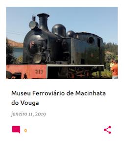Núcleo Museológico do Museu Nacional Ferroviário, em Macinhata do Vouga