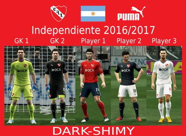 PES 2013 Independiente Kit Season 2016-2017
