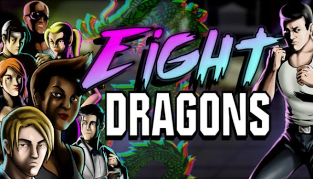 Eight Dragons a new old-school beat'em up in the style of 8-bit games and a local cooperative supporting as many as 8 players