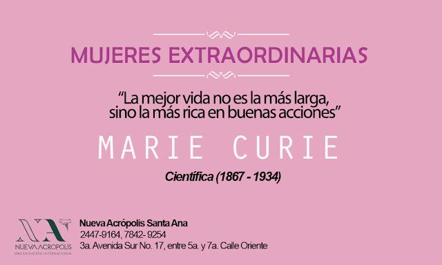 Frase de Marie Curie