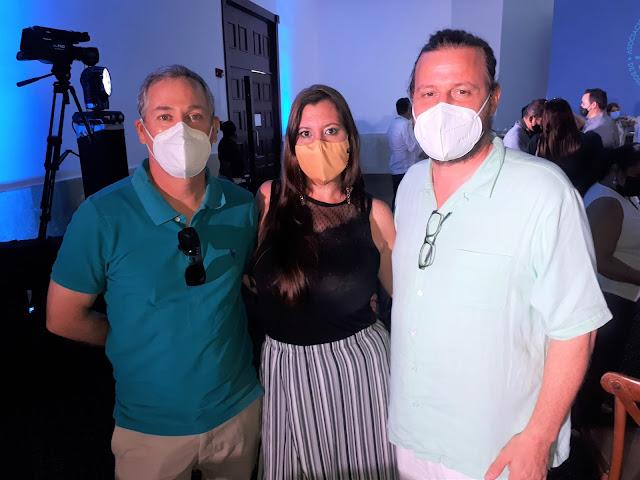 Mike Cantarell, Mayte Gutiérrez y Arwed Lentz.