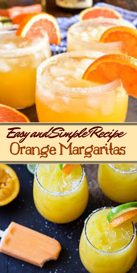 Orange Margaritas  #healthydrink #easyrecipe #cocktail #smoothie