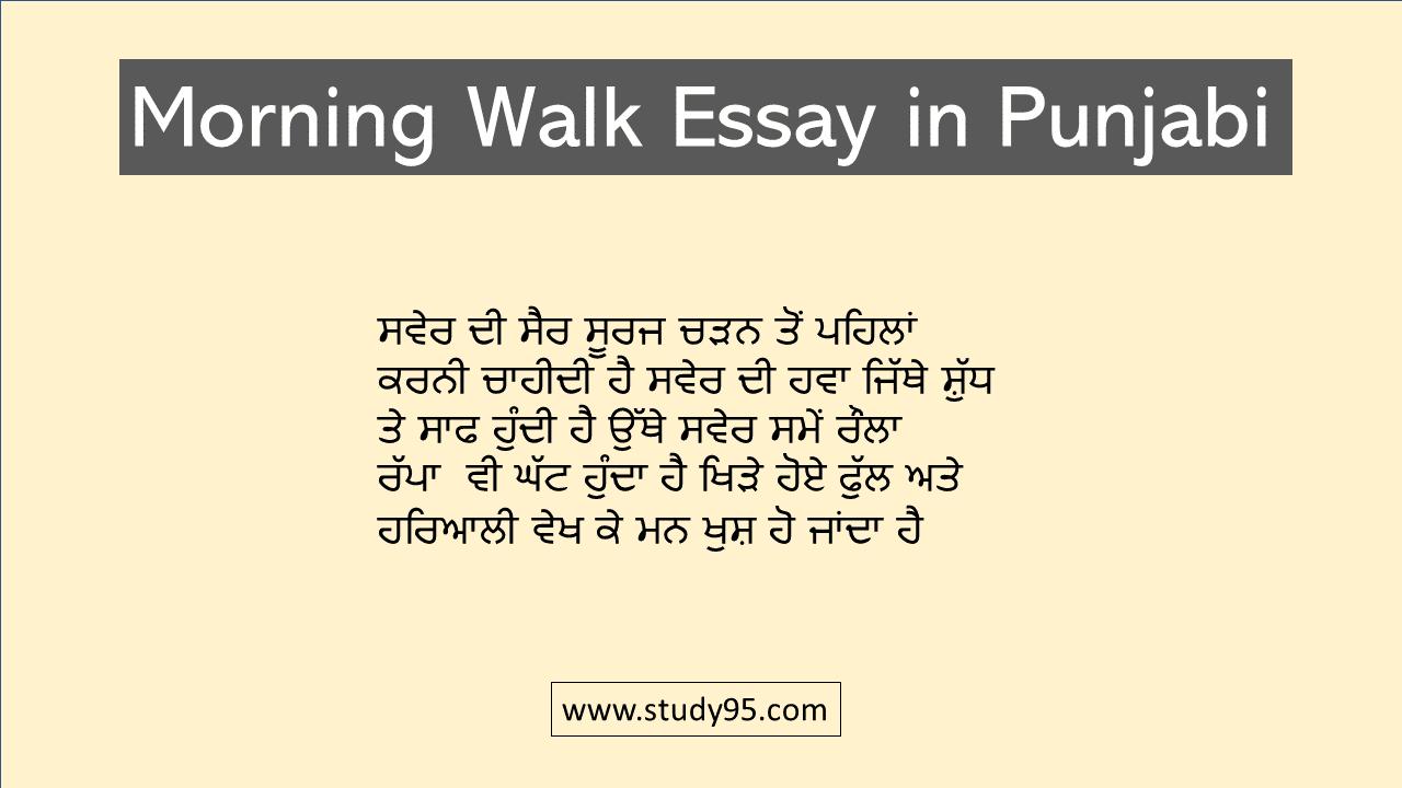 Swer Di Sair Essay in Punjabi