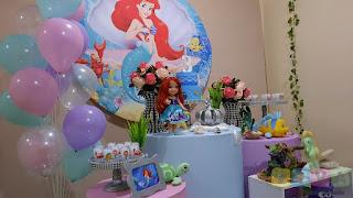 Decoração festa infantil A pequena Sereia Ariel Porto Alegre