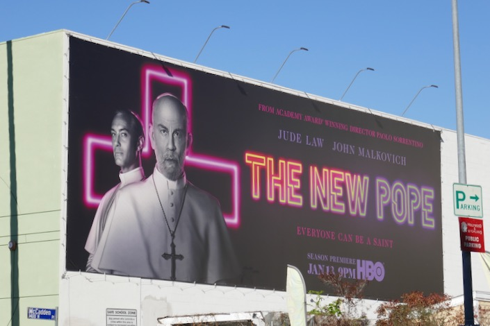 New Pope series launch billboard