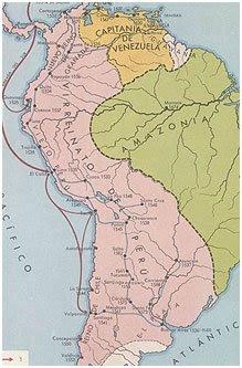 Mapa del Virreinato del Perú en los siglos XVI y XVII