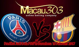 Prediksi Judi Bola PSG vs Barcelona 15 Februari 2017