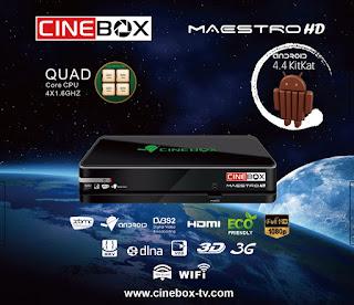 ATUALIZAÇÃO PARA CINEBOX MAESTRO V4.17