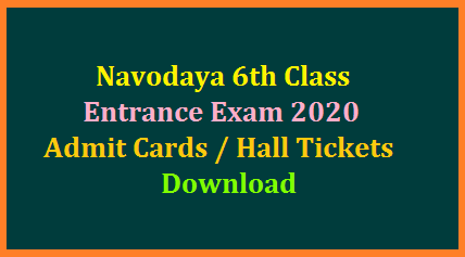 Jawahar Navodaya Vidyalaya Samithi has generated 6th Class Entrance Exam 2020 Admit Cards Online. Candidates may download their Hall Tickets by visiting JNV Official website with their Registration Number and Password. Students those who have applied for VI Class Navodaya Admission Entrance Test 2020 may Download from the website as Admit Cards made available. nvs-navodaya-6th-class-entrance-exam-admit-cards-hall-tickets-download