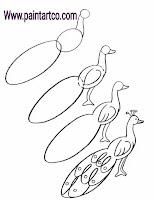 طريقة رسم طاووس بالرصاص