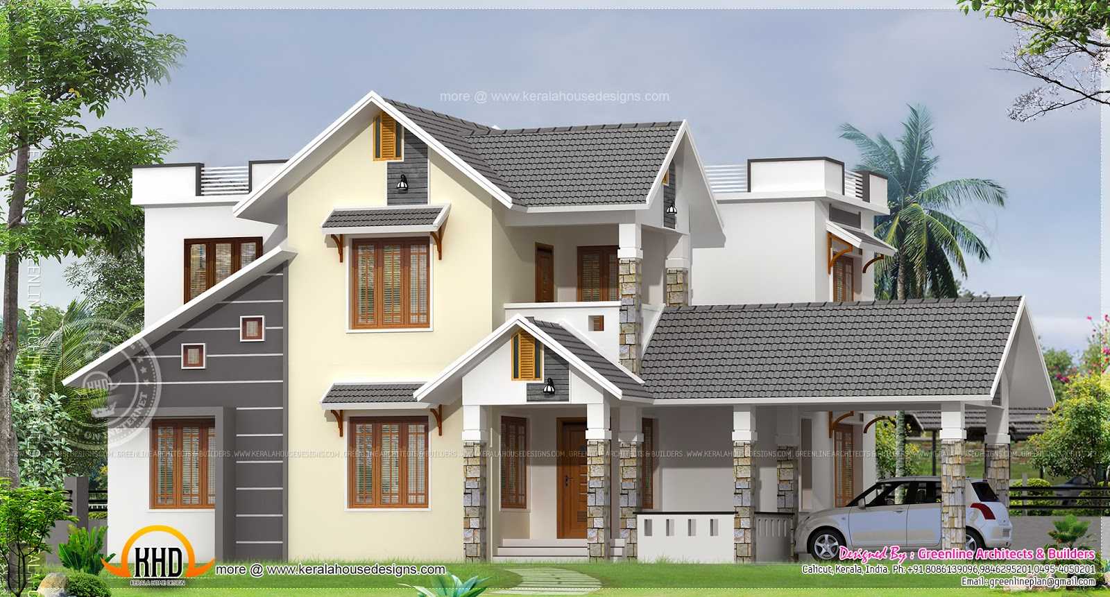 1900 Square Feet House At Calicut Indian House Plans