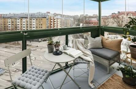 Scandinavian style balcony