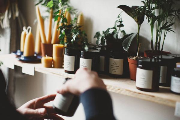 Curated Makers Candles and Plants in Alfie's Studio Shop