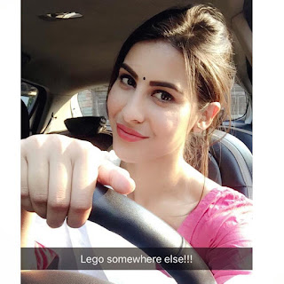 Sheetal Thakur Driving Car Selfie