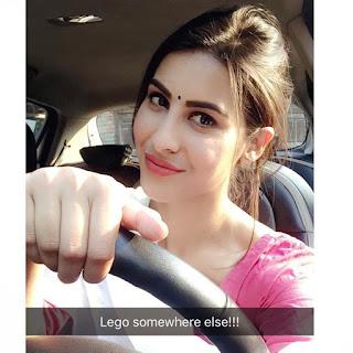 Sheetal Thakur Driving Car Selfie