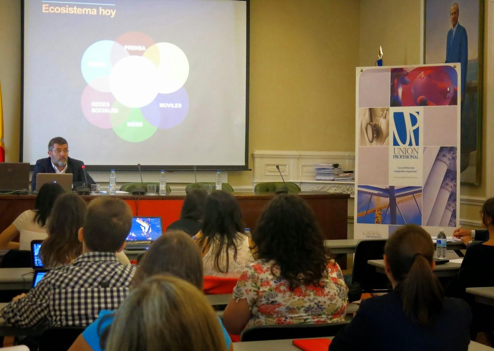 Sesión de redes sociales e identidad digital por Mario Tascón en el II Programa de 'Inicio Profesional'