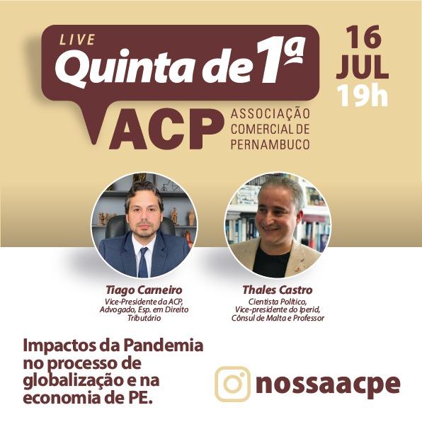 Associação Comercial de Pernambuco debate sobre a economia estadual em tempos de pandemia