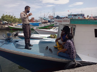 Polsek Paotere Edukasi Warga Pulau Patuhi Protokol Kesehatan