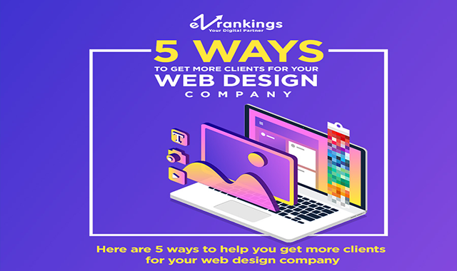 5 ways to get more clients for your Web Design Company #infographic