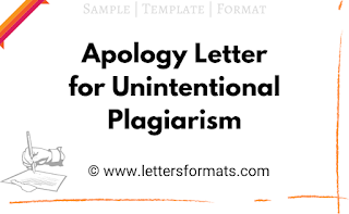 how to write an apology letter for plagiarism