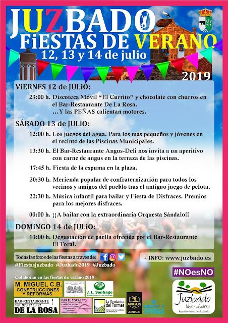 Juzbado, Fiestas de verano 2019