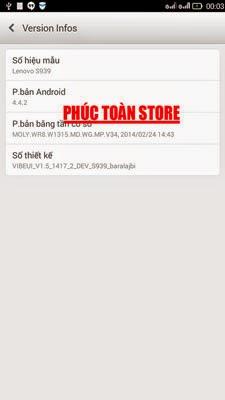 Rom tiếng Việt Lenovo S939 done alt