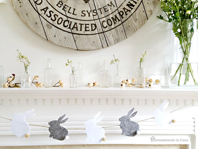 Spring mantel display