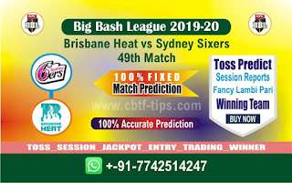 cricket prediction 100 win tips Brisbane vs Sixer cricket