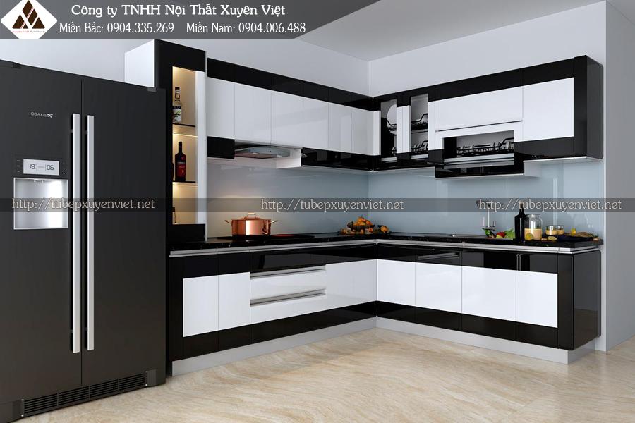 Mẫu tủ bếp đẹp hiện đại nhà anh Thành - Hoài Đức