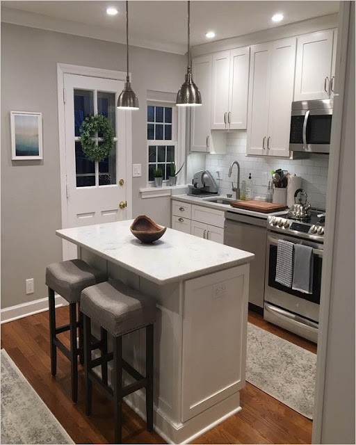 small kitchen designs with island bench