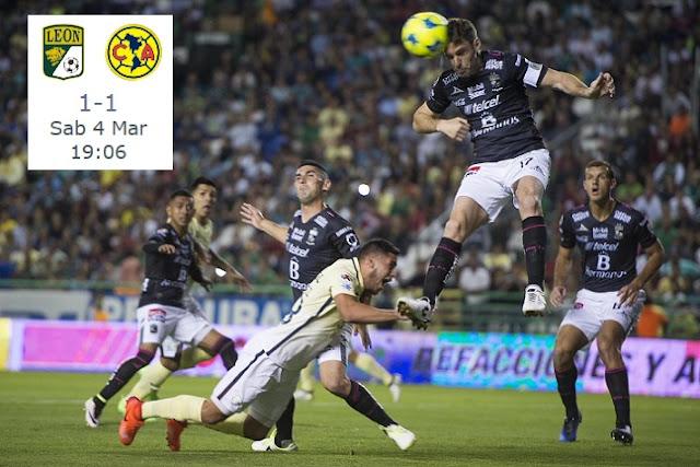 Resumen alineación León 1-1 América jornada 9 clausura 2017