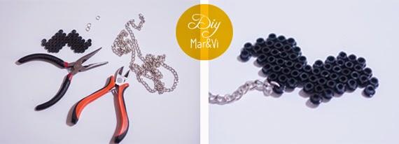 Collar de bigotes con Hama Beads