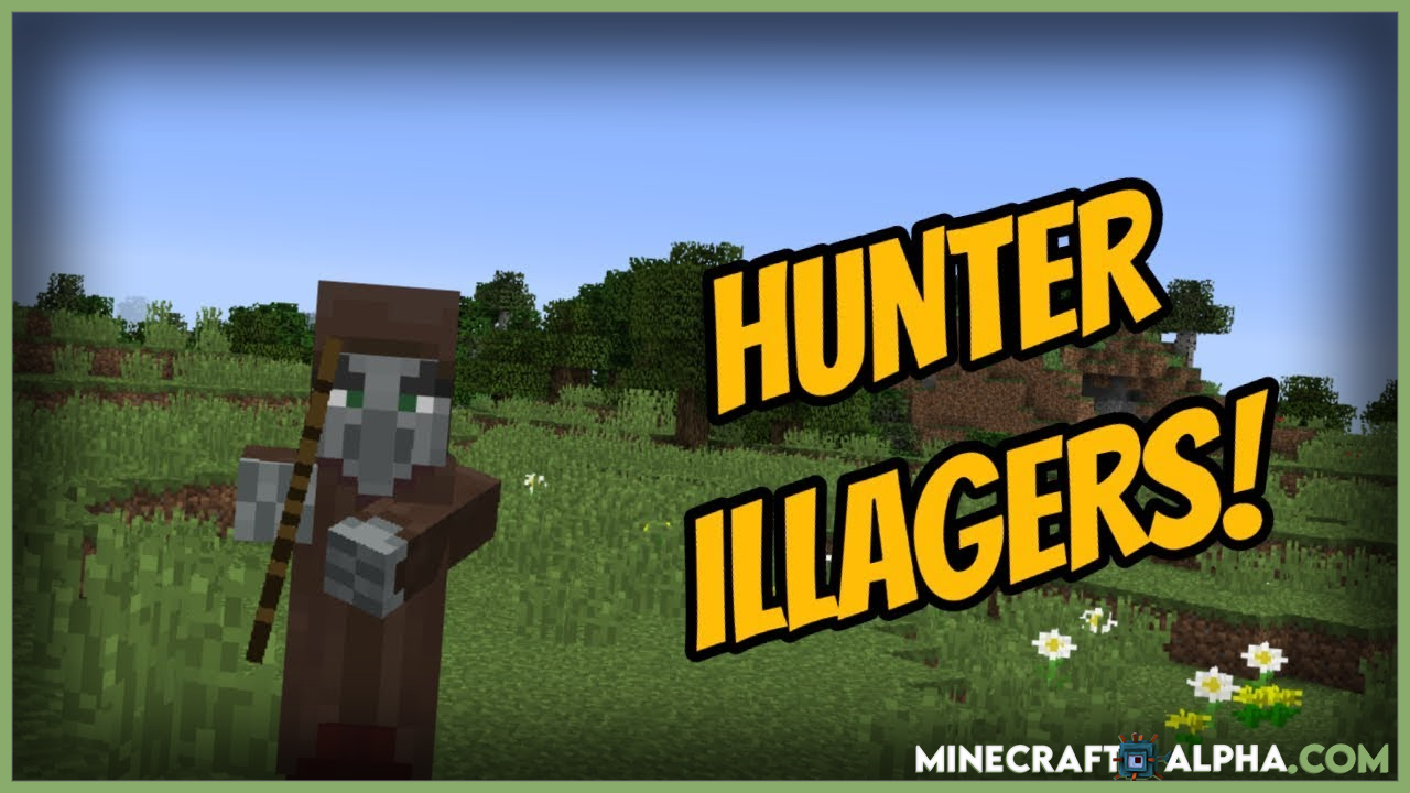 Minecraft Hunter Illager Mod  For 1.17.1/1.16.5/1.15.2 (Evil Hunter-Illager)