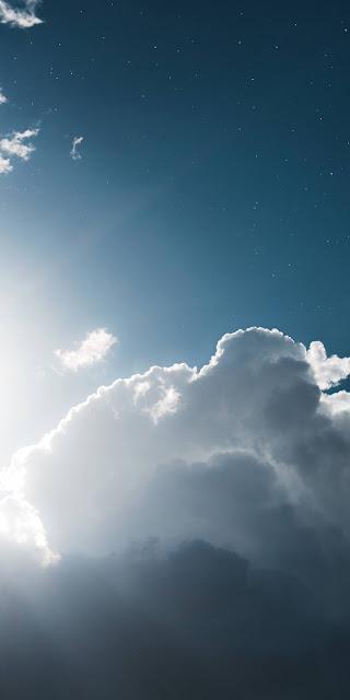 Hình nền mây trắng