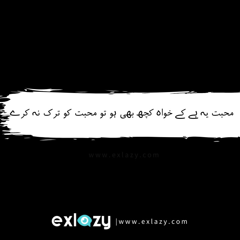 Urdu quotes about love