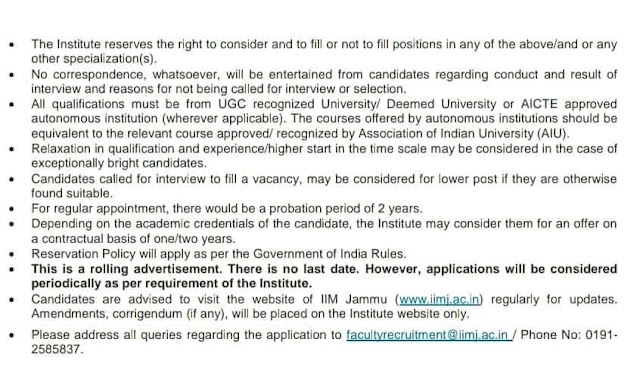 jobs in IIM Jammu