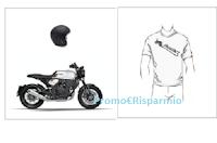 Logo Concorso #MYBRIXTON500: vinci gratis 24 T-shirt e moto Brixton Crossfire con casco