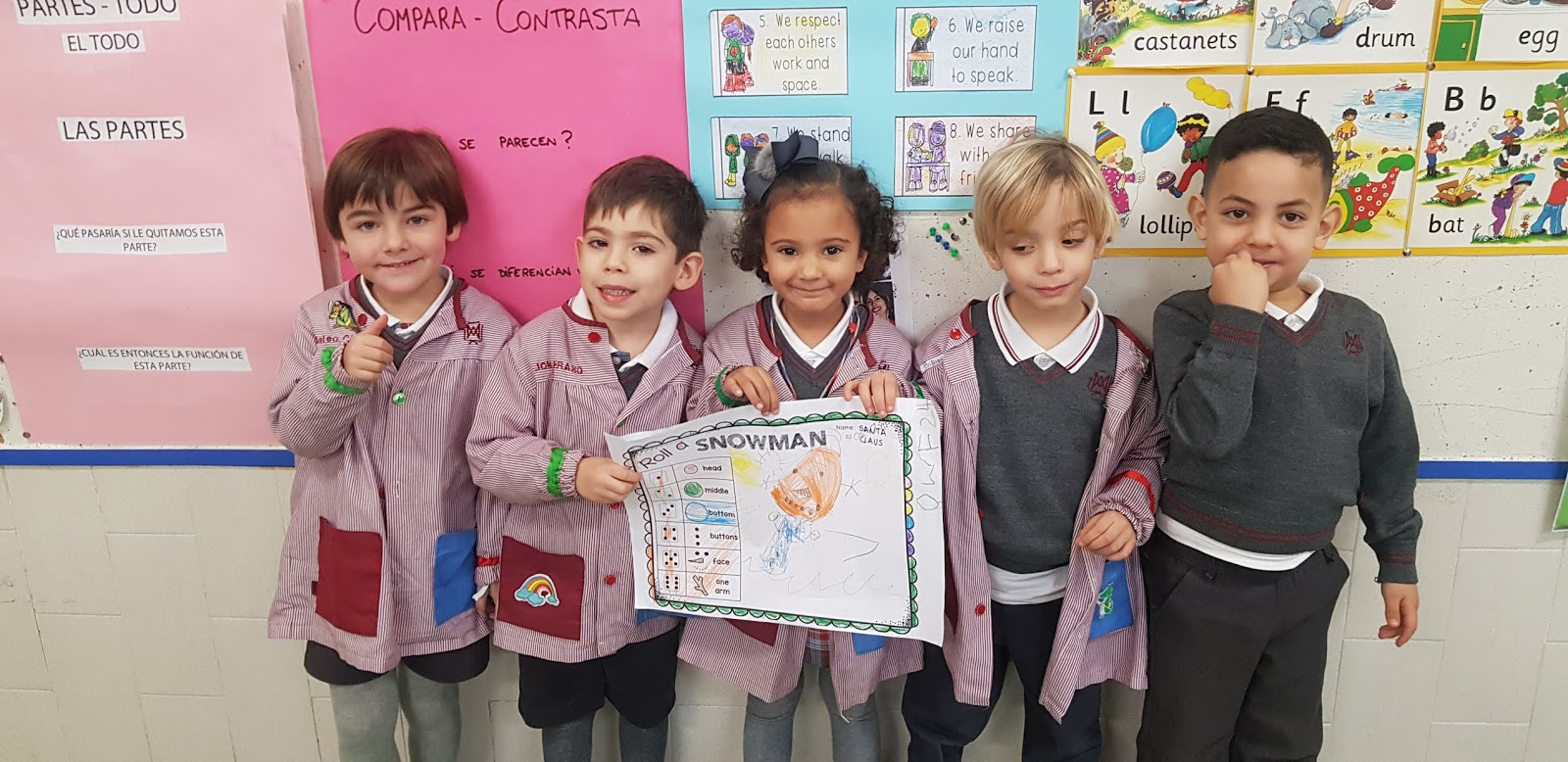 English Infantil Cooperative Learning Roll A Snowman 2ob
