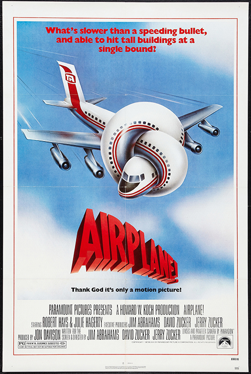 Airplane! - Vintage Classic Movie Poster, classic posters, free download, free posters, free printable, graphic design, movies, printables, retro prints, theater, vintage, vintage posters, vintage printables